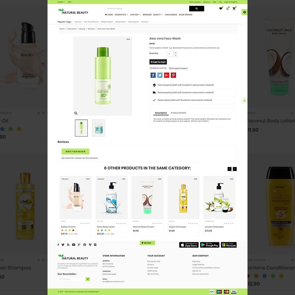 theme - Saúde & Beleza - Natural Beauty – Cosmetic and lingerie Shop - 4