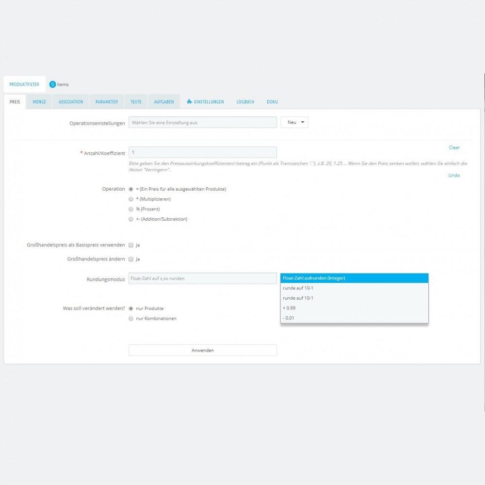 module - Quick Eingabe & Massendatenverwaltung - Produktmassenbearbeitung: Massenupdateassistent - 4
