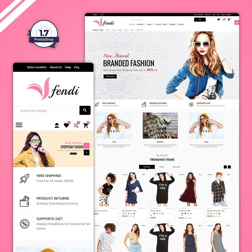 theme - Fashion & Shoes - Fendy – Fashion Style Mega Shop - 1