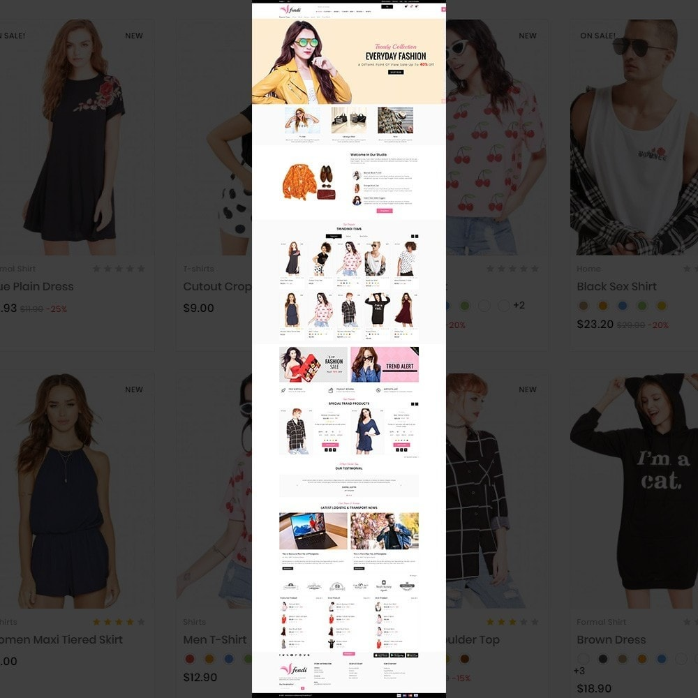 theme - Mode & Schoenen - Fendy – Fashion Style Mega Shop - 2