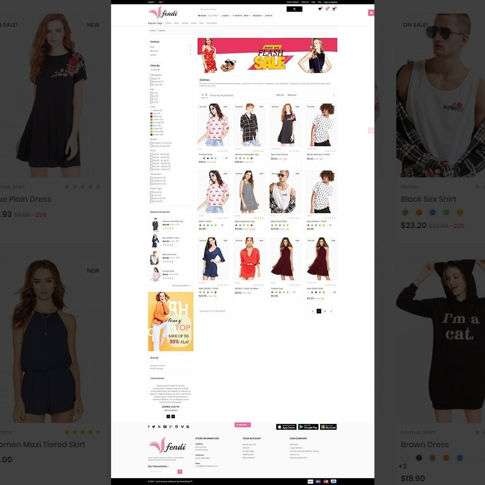 theme - Fashion & Shoes - Fendy – Fashion Style Mega Shop - 3
