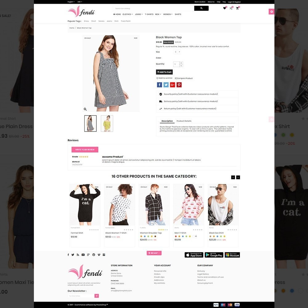 theme - Fashion & Shoes - Fendy – Fashion Style Mega Shop - 4