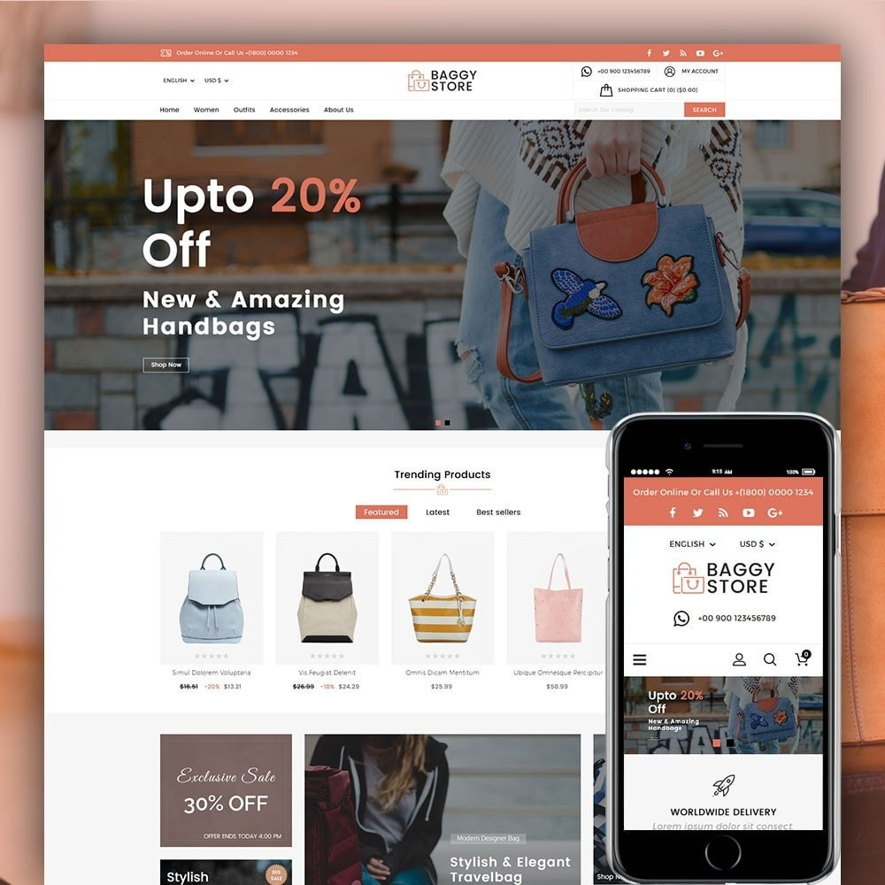 theme - Mode & Schuhe - Baggy Bag Store - 1