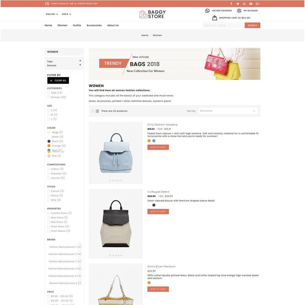theme - Mode & Schuhe - Baggy Bag Store - 6