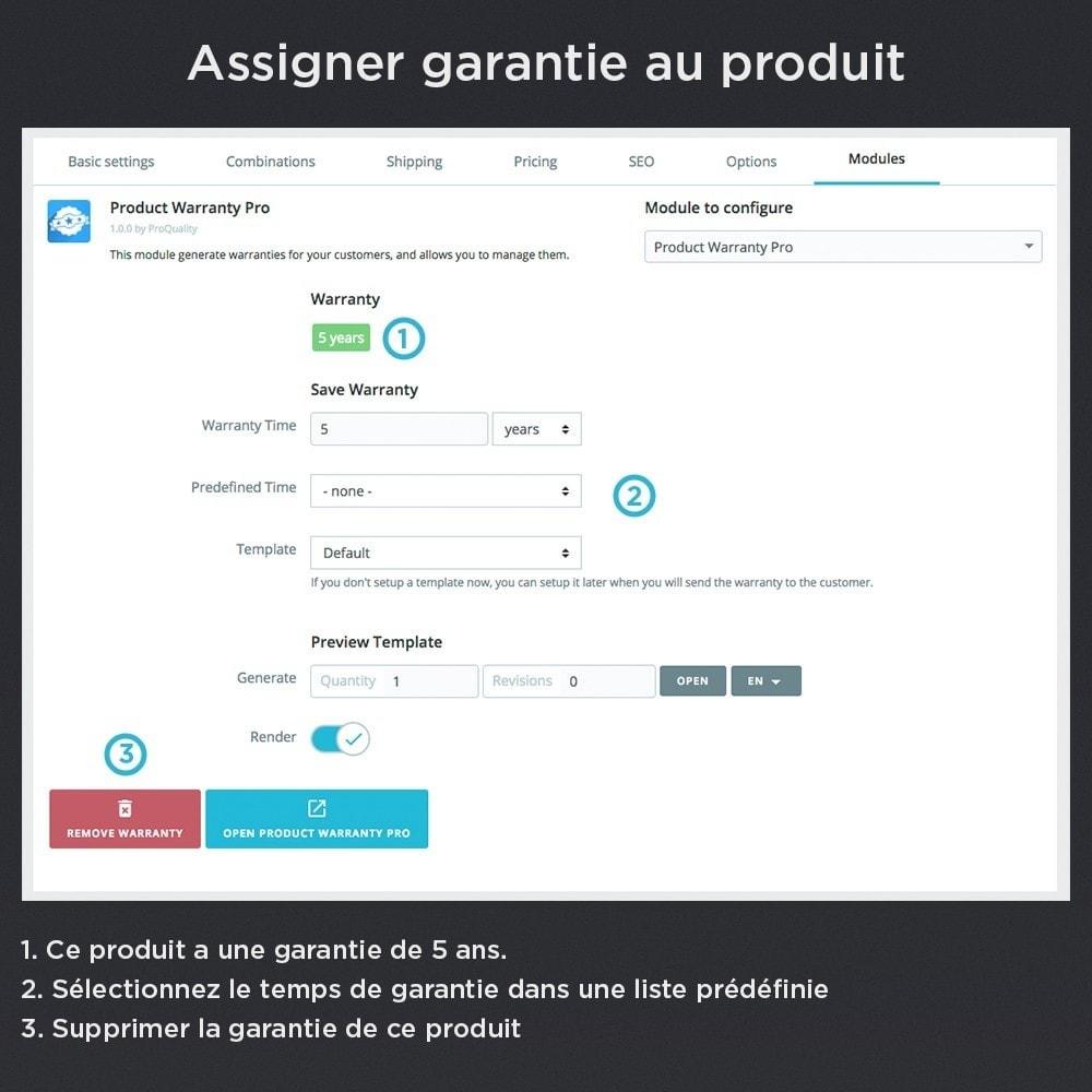 module - Gestion des Commandes - Produit Garantie Pro - 9