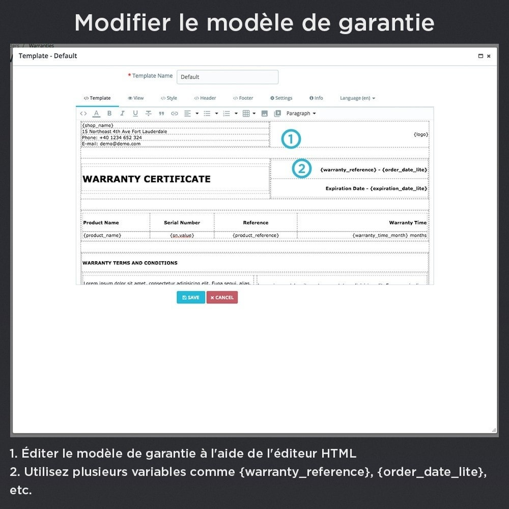 module - Gestion des Commandes - Produit Garantie Pro - 18