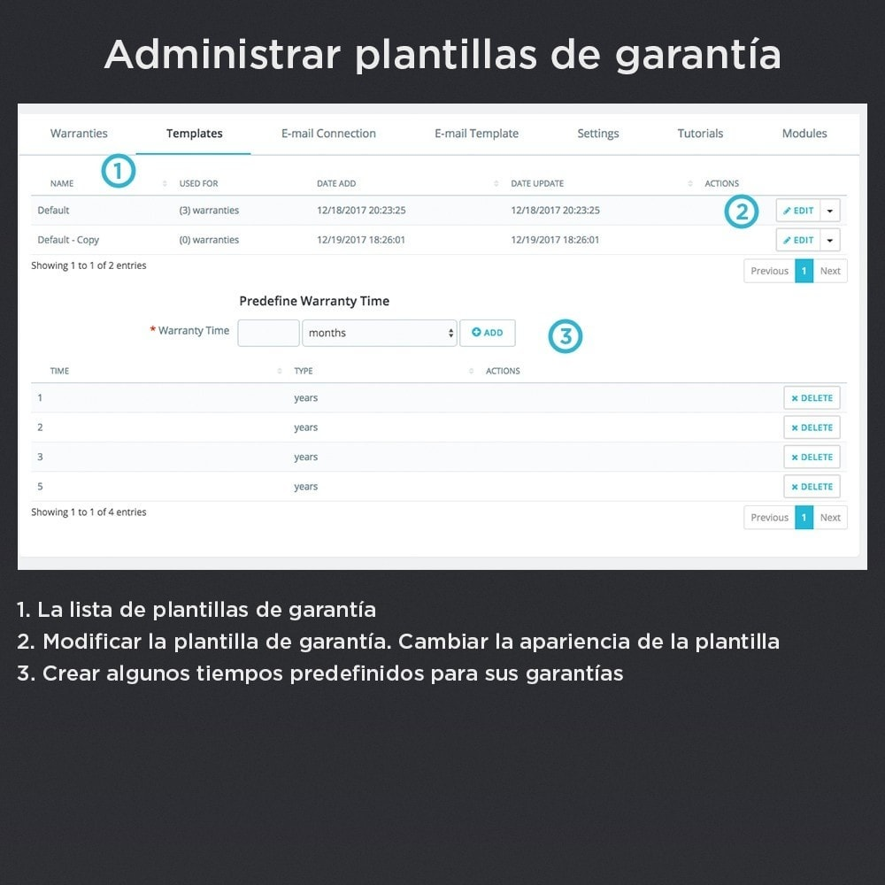 module - Gestión de Pedidos - Garantía del Producto Pro - 17