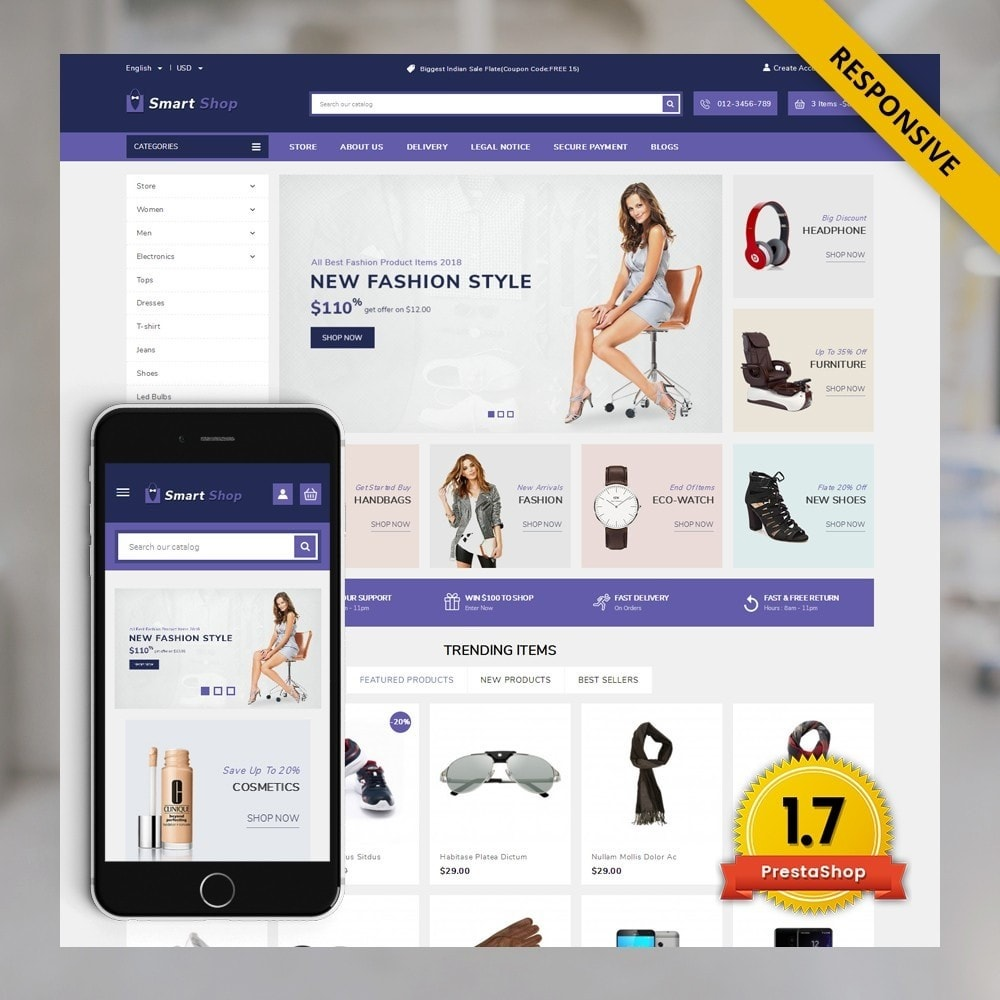 theme - Electronique & High Tech - SmartShop - The MegaShop - 1