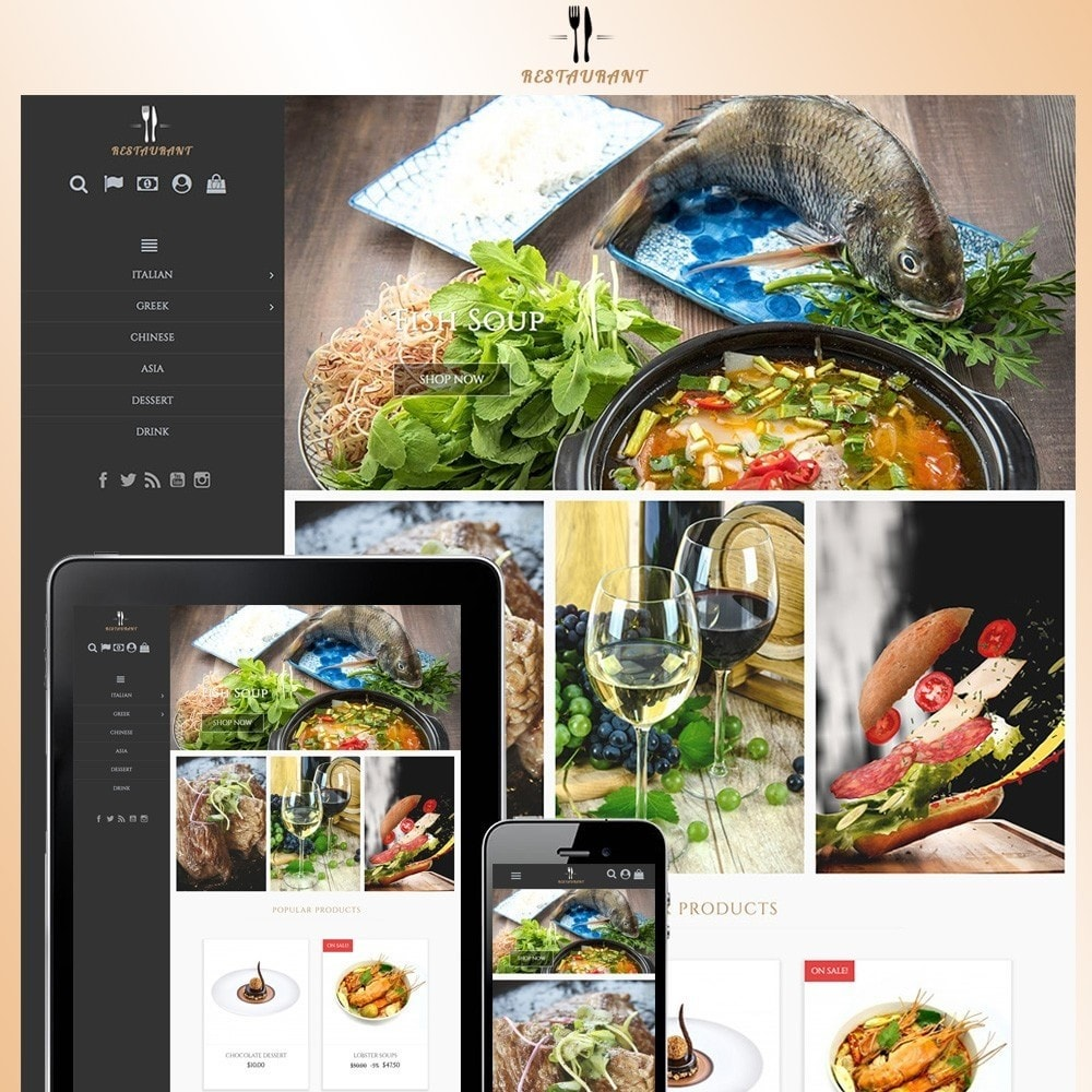 theme - Alimentos & Restaurantes - Universal Restaurant - 1