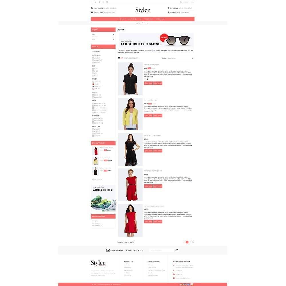 theme - Fashion & Shoes - Stylee Store - 4