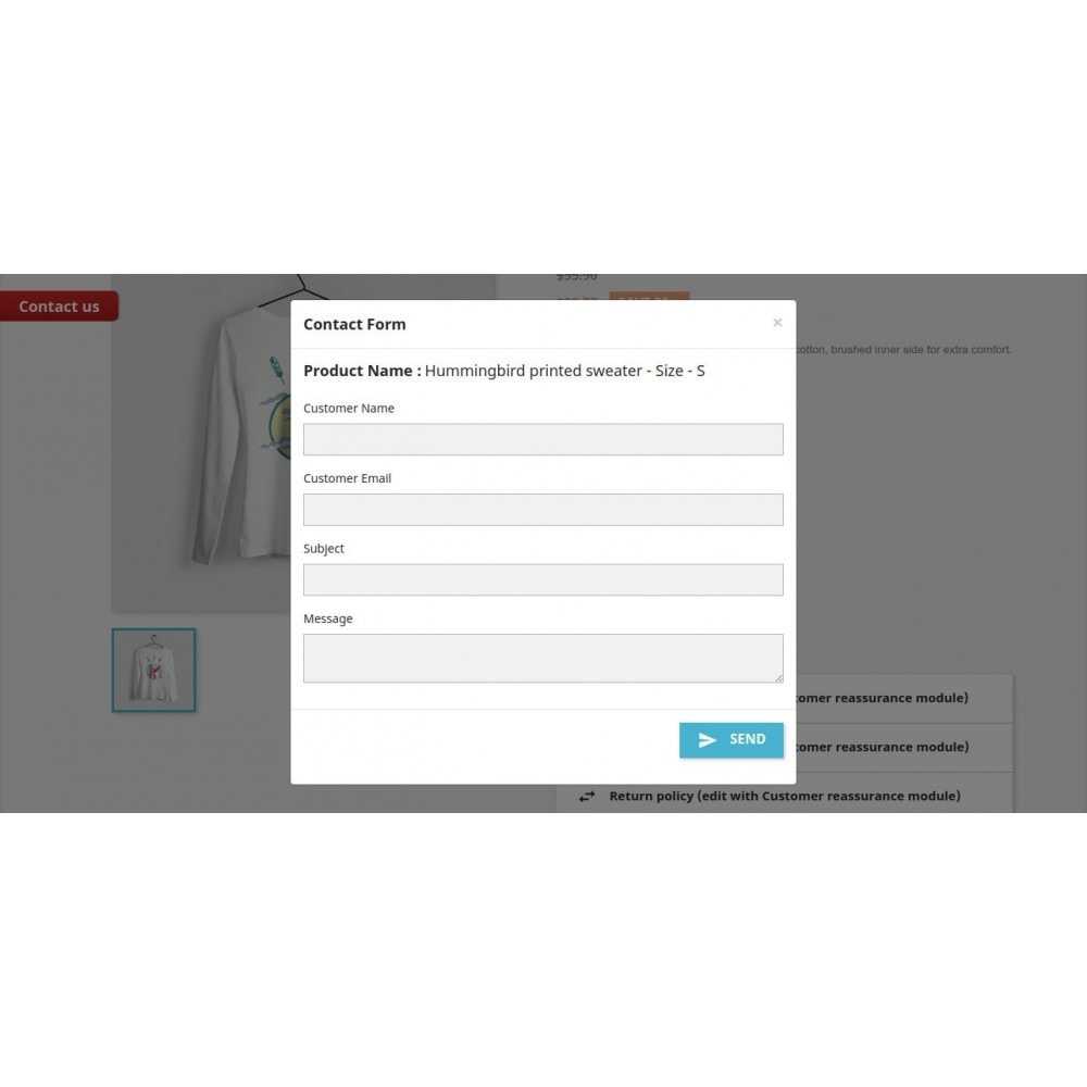 module - Contactformulier & Enquêtes - Ajax Contact | Product Enquiry Form - 11