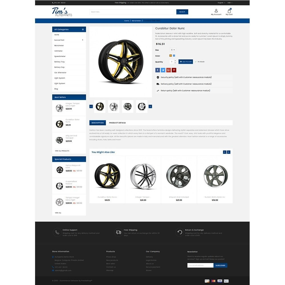 theme - Autos & Motorräder - Tim's Autoparts Store - 5
