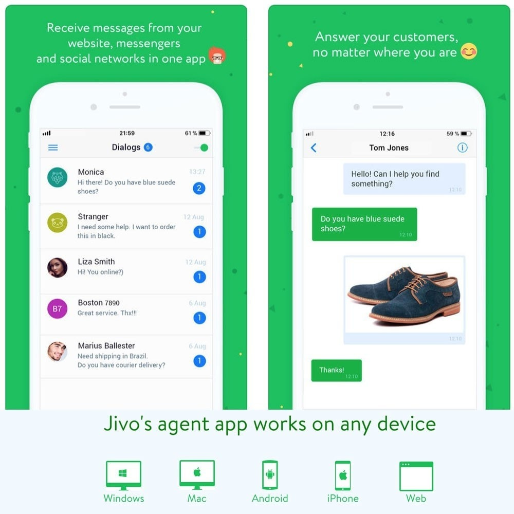 module - Support & Online-Chat - JivoChat live chat Agent - 6
