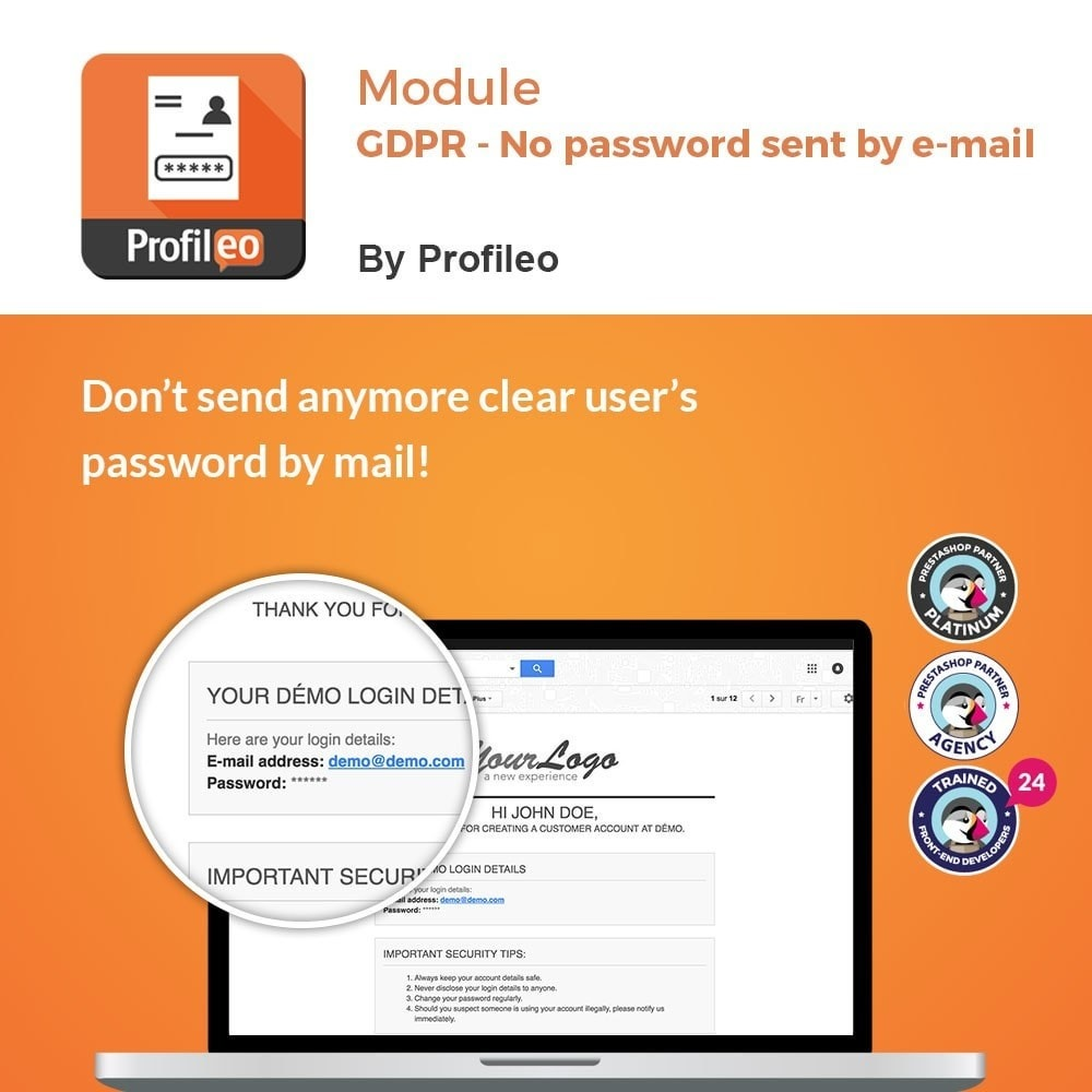 module - Juridisch - GDPR - No Password Sent - 1