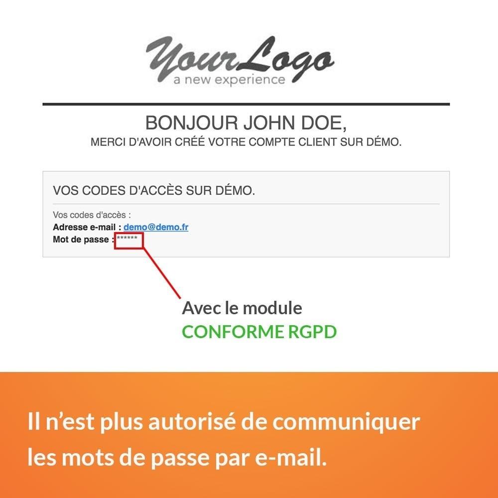module - Législation - RGPD - Pas de mot de passe par e-mail - 3