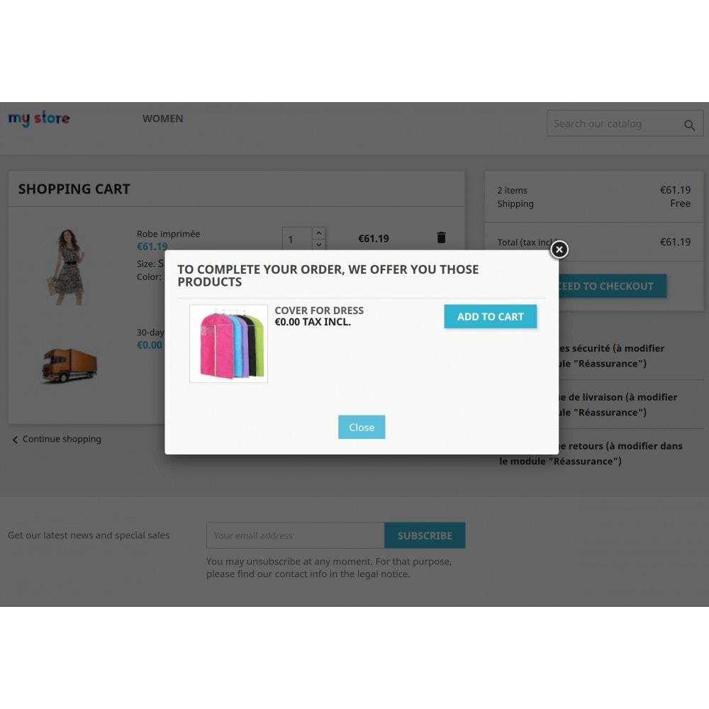 module - Перекрестные продажи и Создание комплектов - Add Automatically Products In Cart - 6