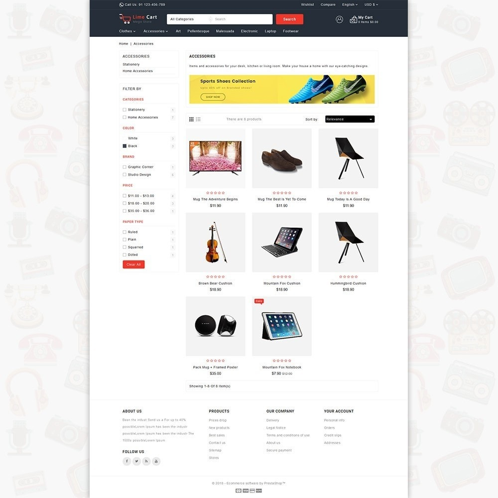 theme - Elektronika & High Tech - LimeCart - The Mega Ecommerce Store - 3
