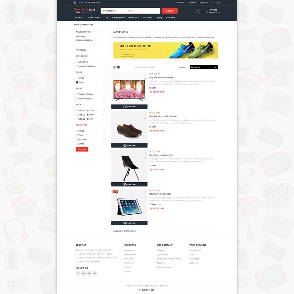 theme - Elektronika & High Tech - LimeCart - The Mega Ecommerce Store - 4