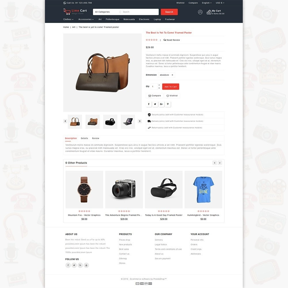 theme - Elektronika & High Tech - LimeCart - The Mega Ecommerce Store - 5