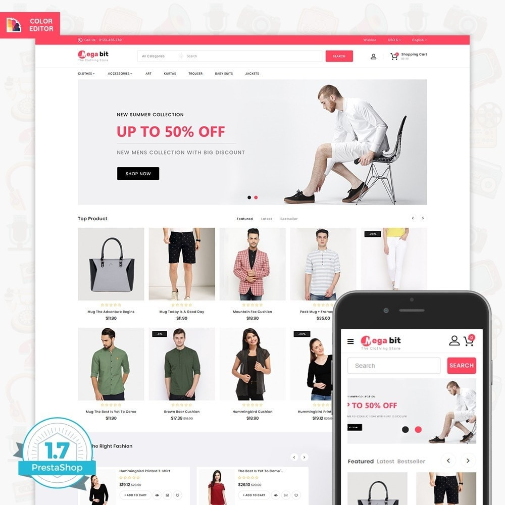theme - Elettronica & High Tech - MegaBit - The E-commerce Shop - 1