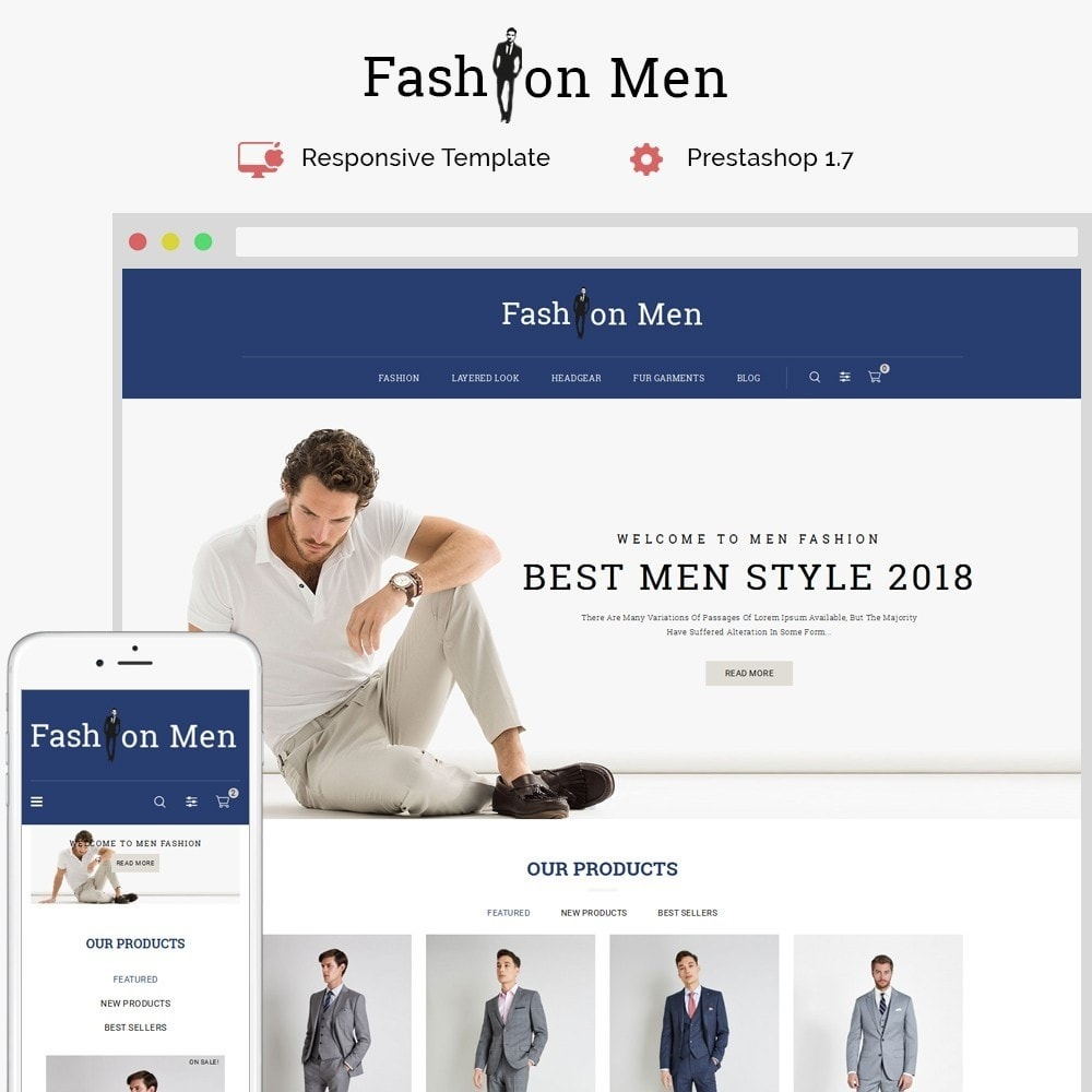 theme - Mode & Schoenen - Fashionmen Demo Store - 1