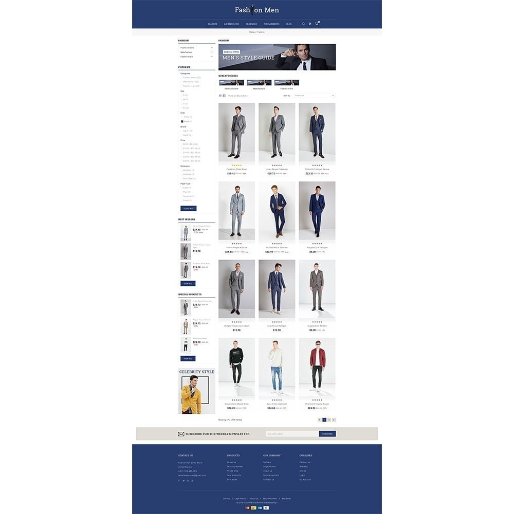 theme - Mode & Schoenen - Fashionmen Demo Store - 3