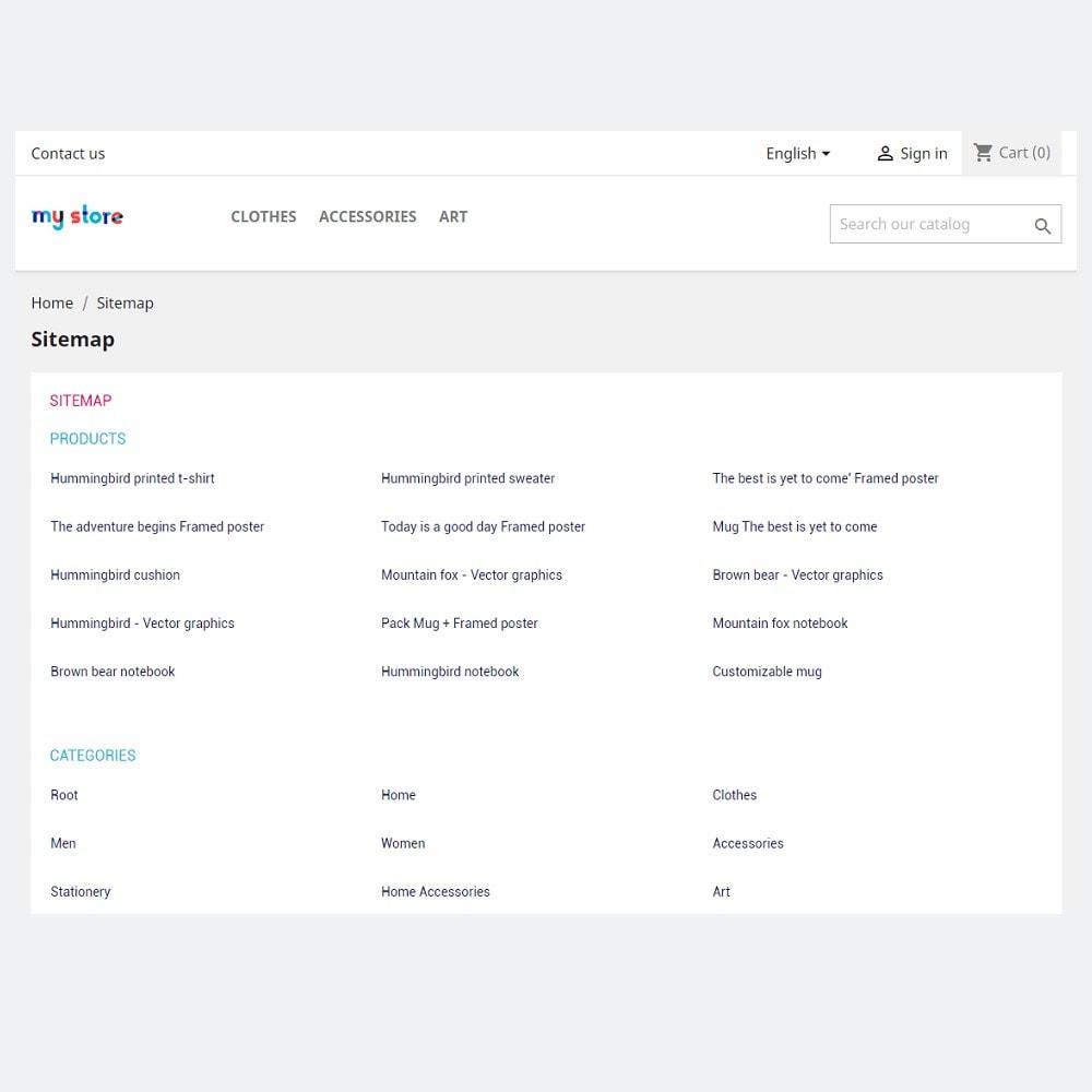 module - SEO (Pozycjonowanie naturalne) - Generator mapy witryny dla SEO (XML i HTML) - 2