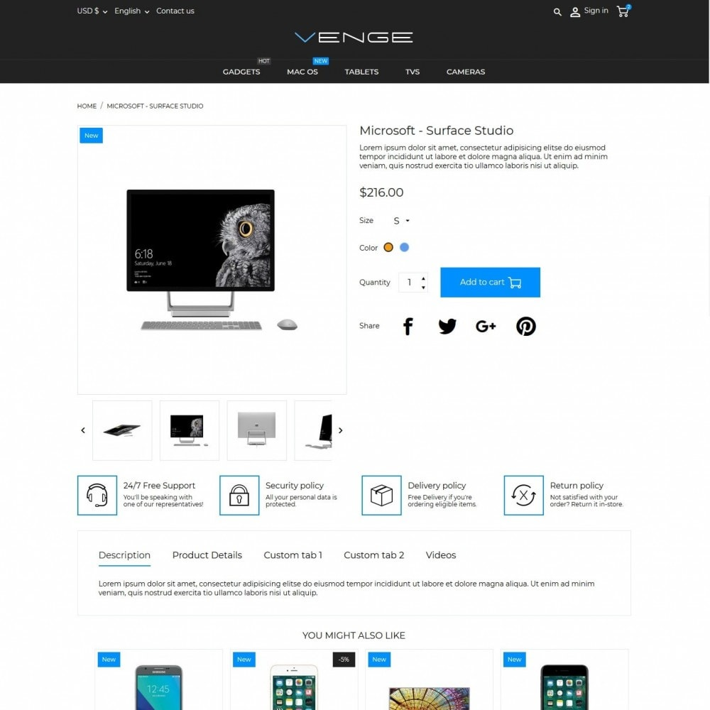 theme - Eletrônicos & High Tech - Venge - High-tech Shop - 6