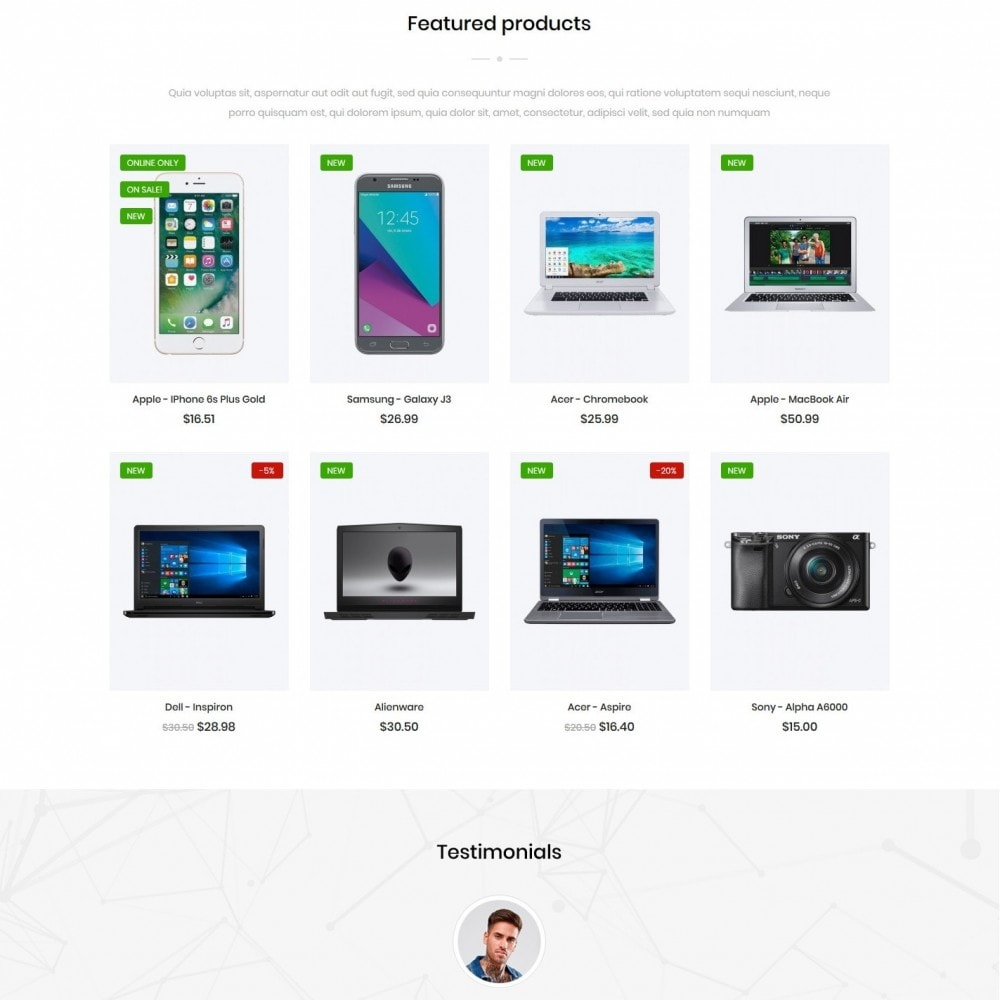 theme - Electronics & Computers - Infogra - High-tech Shop - 3