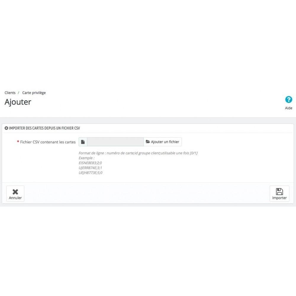 module - Fidélisation & Parrainage - Carte Privilège - 6