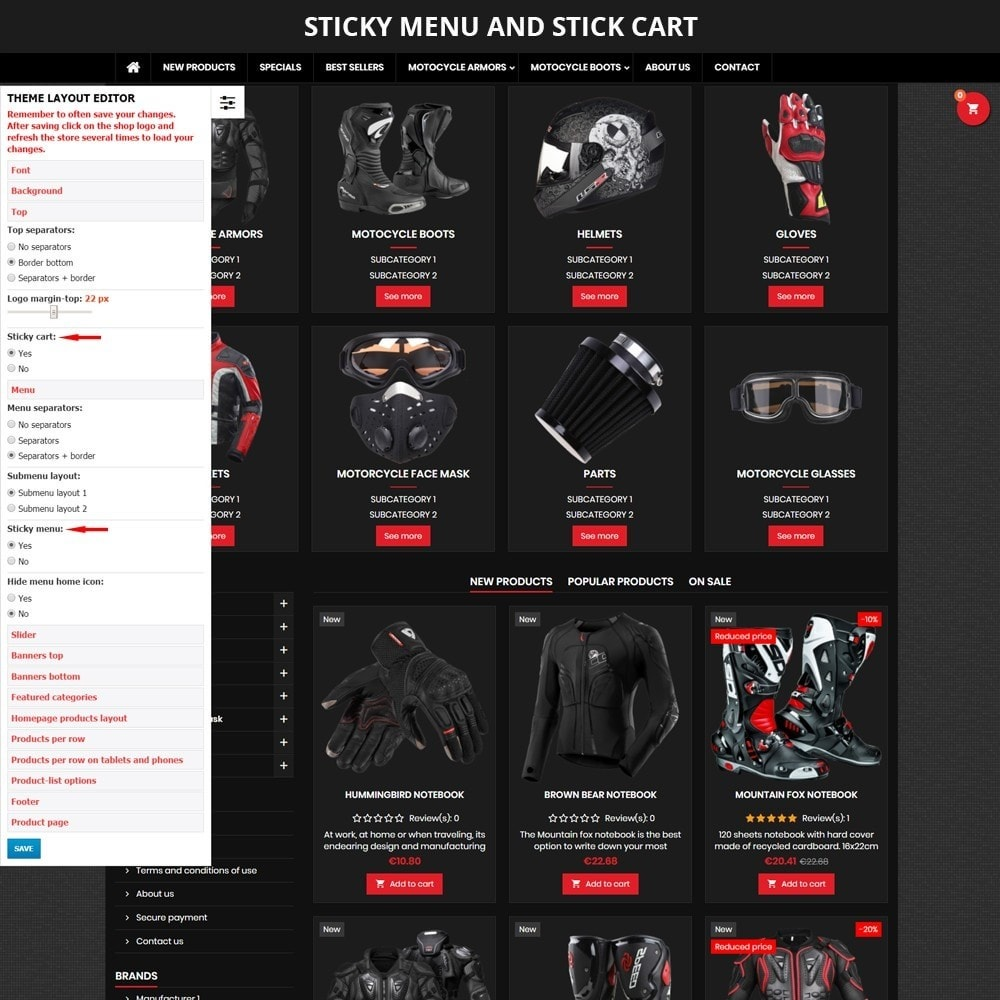 theme - Carros & Motos - AT19 Black - Motorcycles cloths and parts store - 5