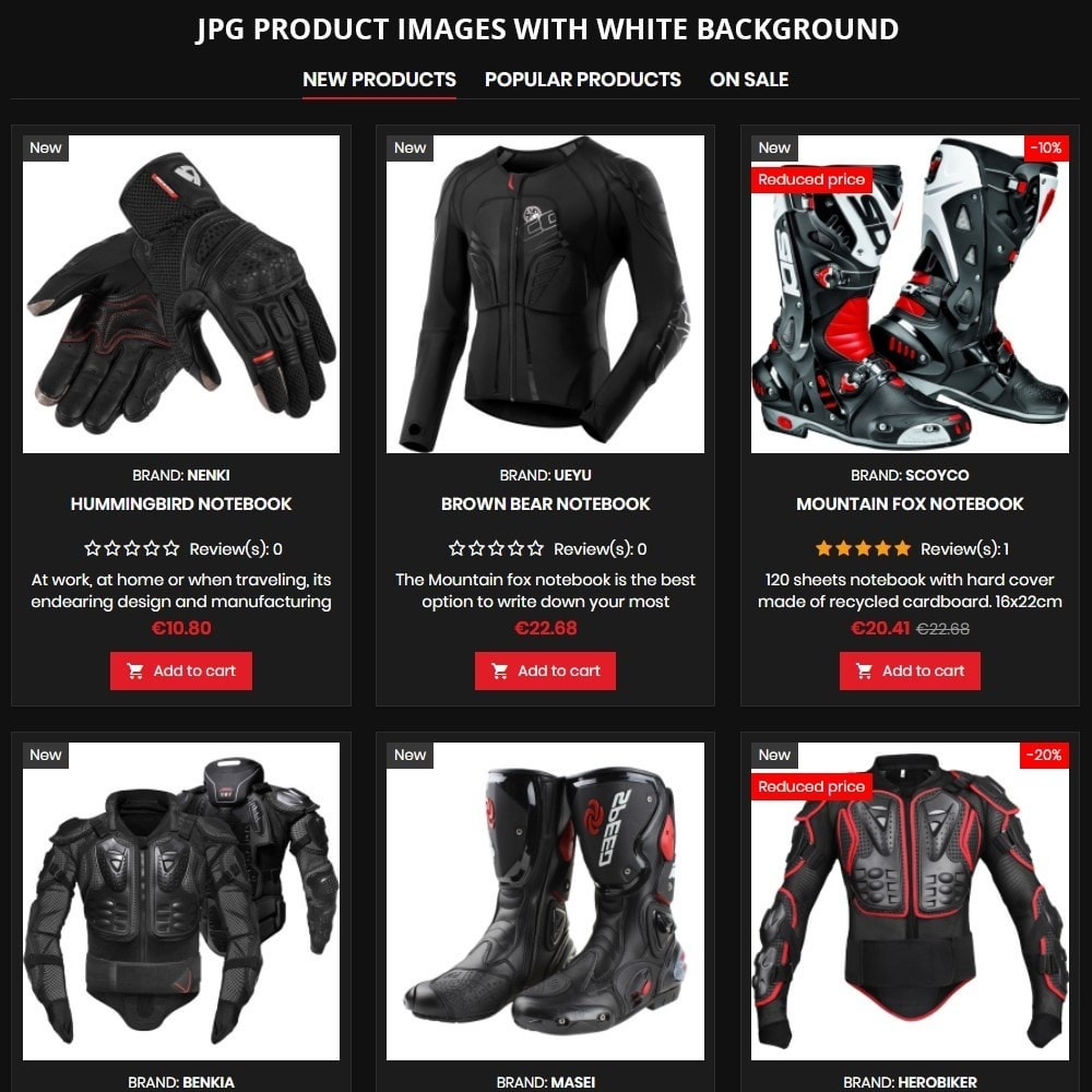 theme - Carros & Motos - AT19 Black - Motorcycles cloths and parts store - 8