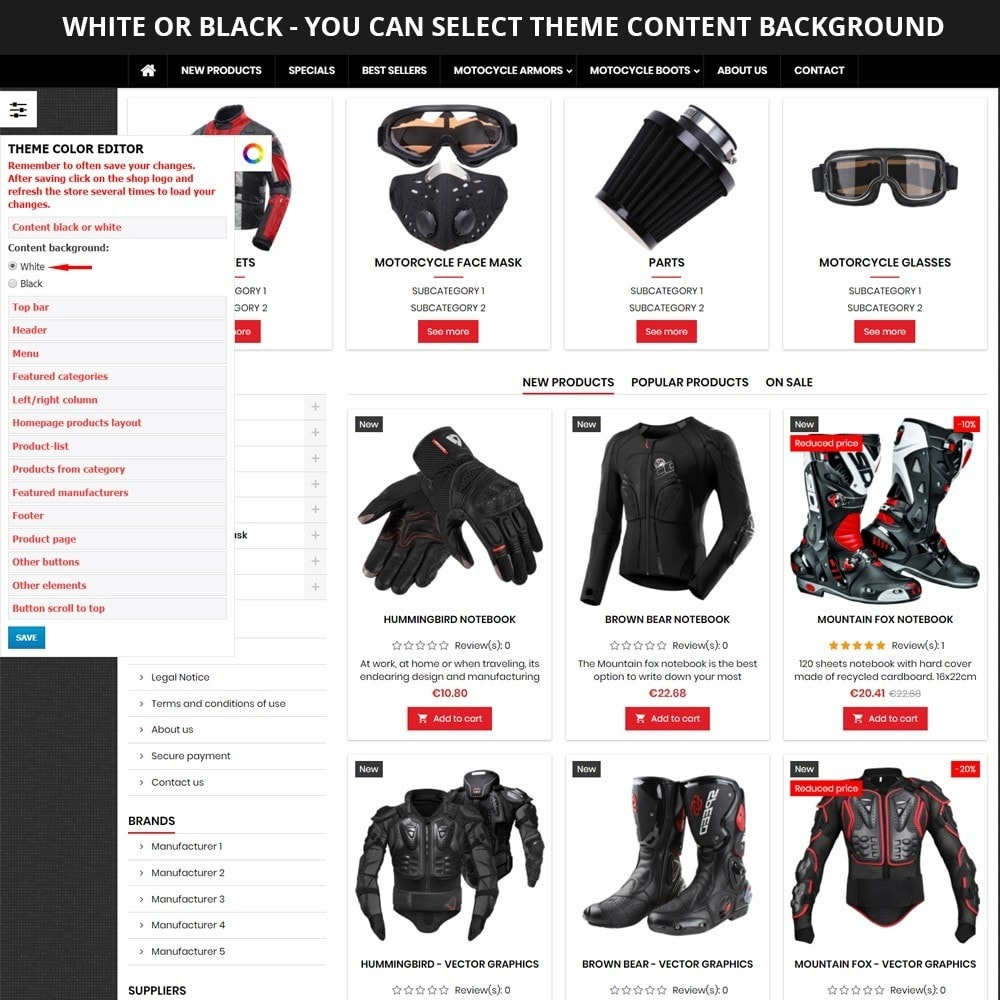 theme - Carros & Motos - AT19 Black - Motorcycles cloths and parts store - 10