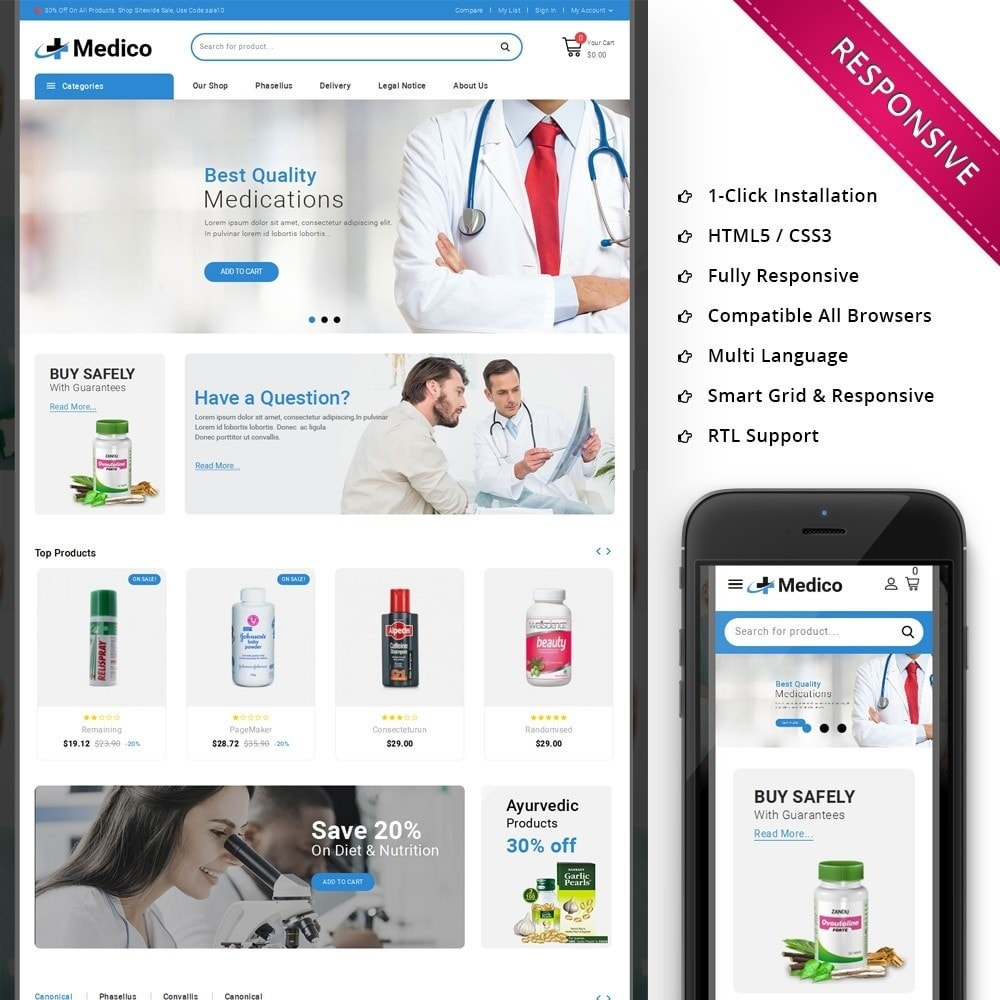 theme - Salute & Bellezza - Medico - The Medical Store - 1