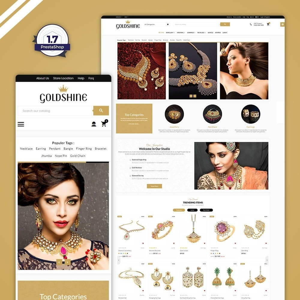 theme - Bellezza & Gioielli - Gold Shine – Jeweler Shop - 1