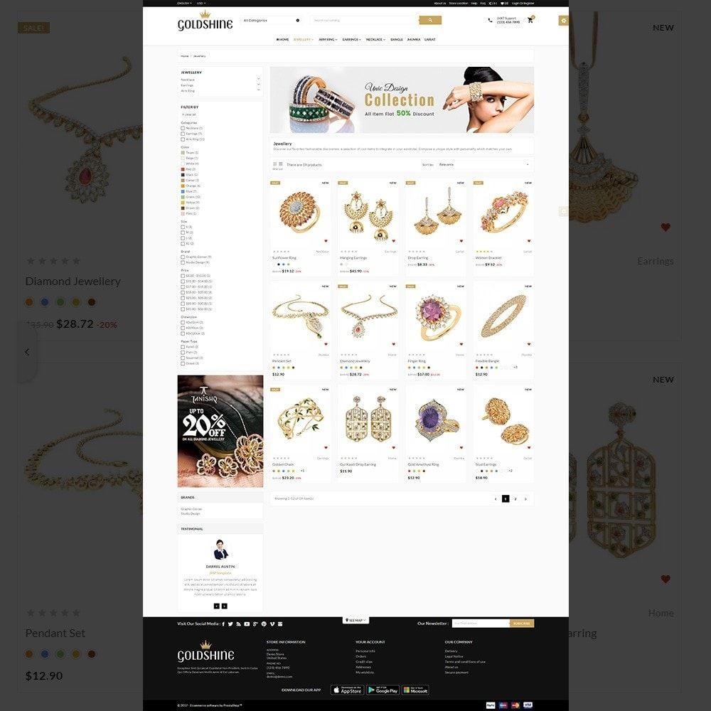 theme - Bellezza & Gioielli - Gold Shine – Jeweler Shop - 3
