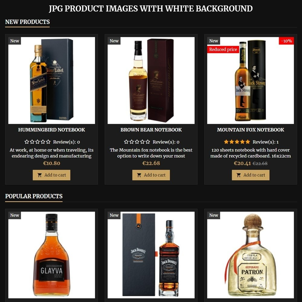 theme - Drink & Wine - AT18 Black - Drink, alcohol, liquor, whisky, beer store - 8