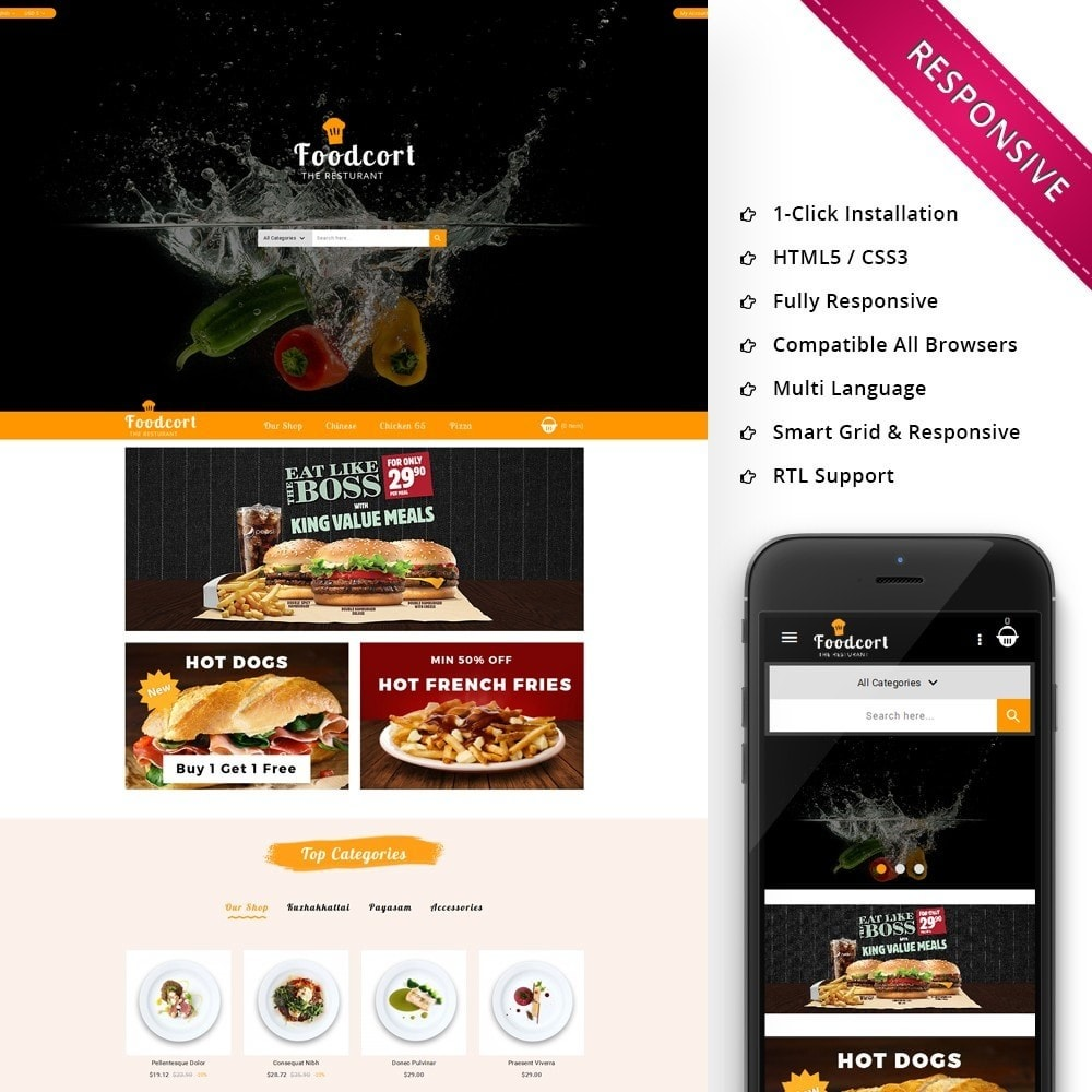theme - Lebensmittel & Restaurants - Foodcort Restaurant - 1