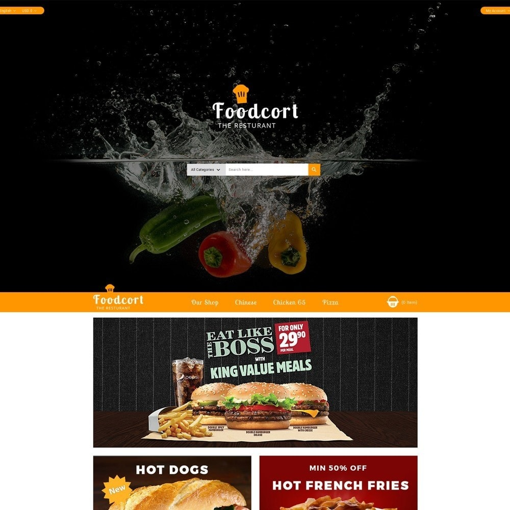 theme - Lebensmittel & Restaurants - Foodcort Restaurant - 2