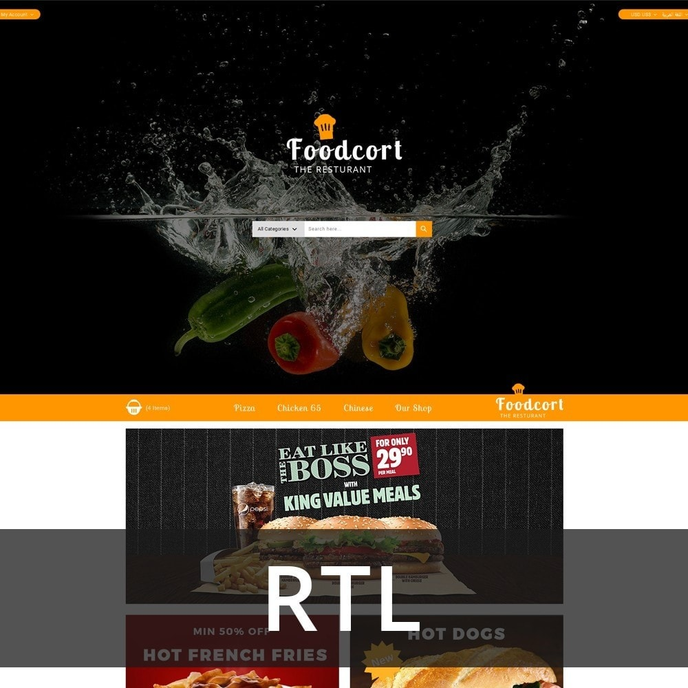 theme - Lebensmittel & Restaurants - Foodcort Restaurant - 3