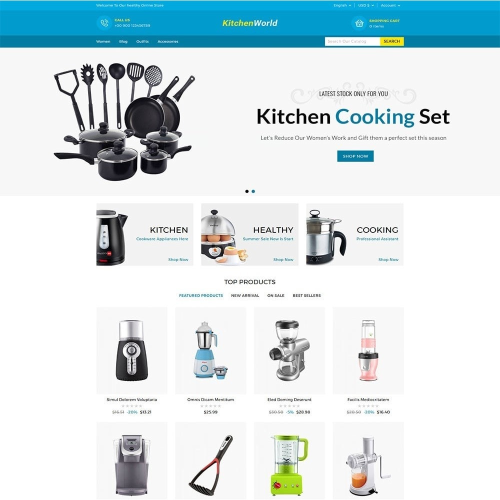 theme - Дом и сад - Kitchen World Online Store - 2