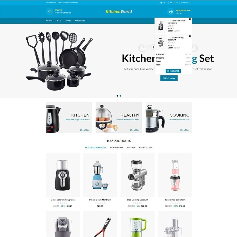 theme - Дом и сад - Kitchen World Online Store - 3