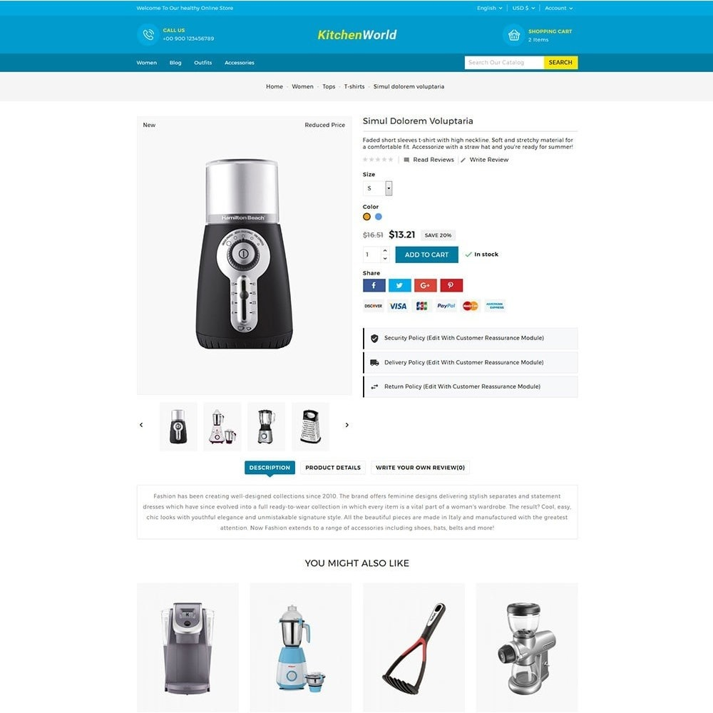 theme - Дом и сад - Kitchen World Online Store - 6
