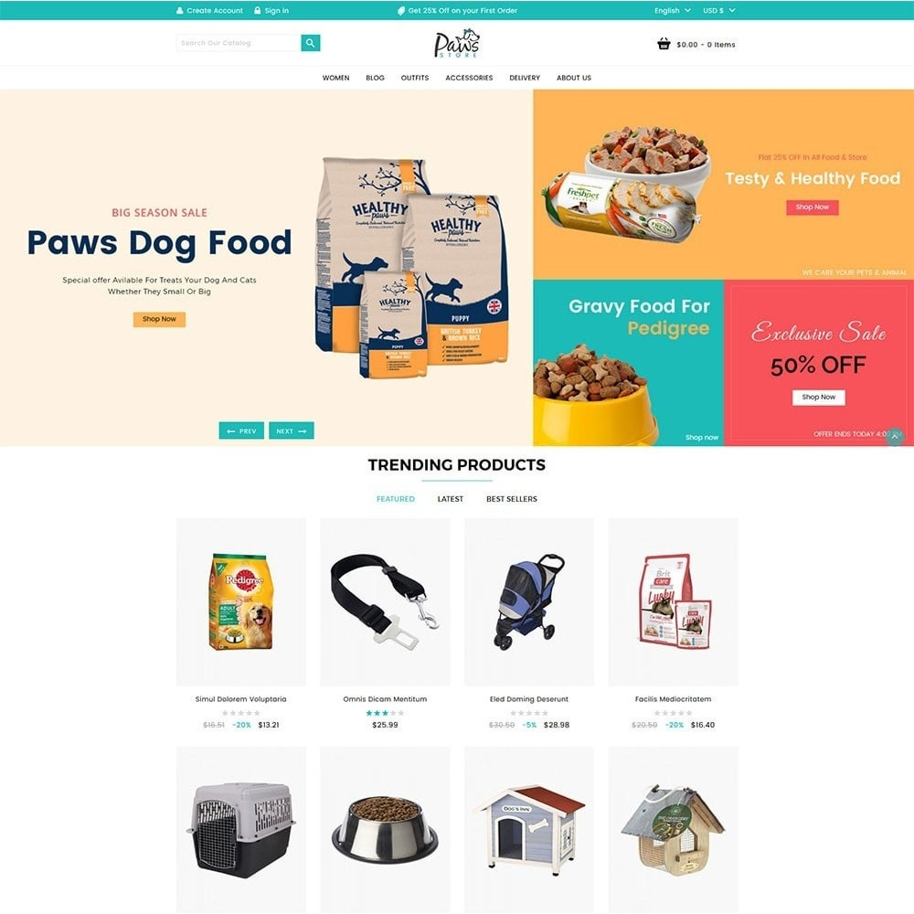 theme - Animals & Pets - Paws Pet Store - 2