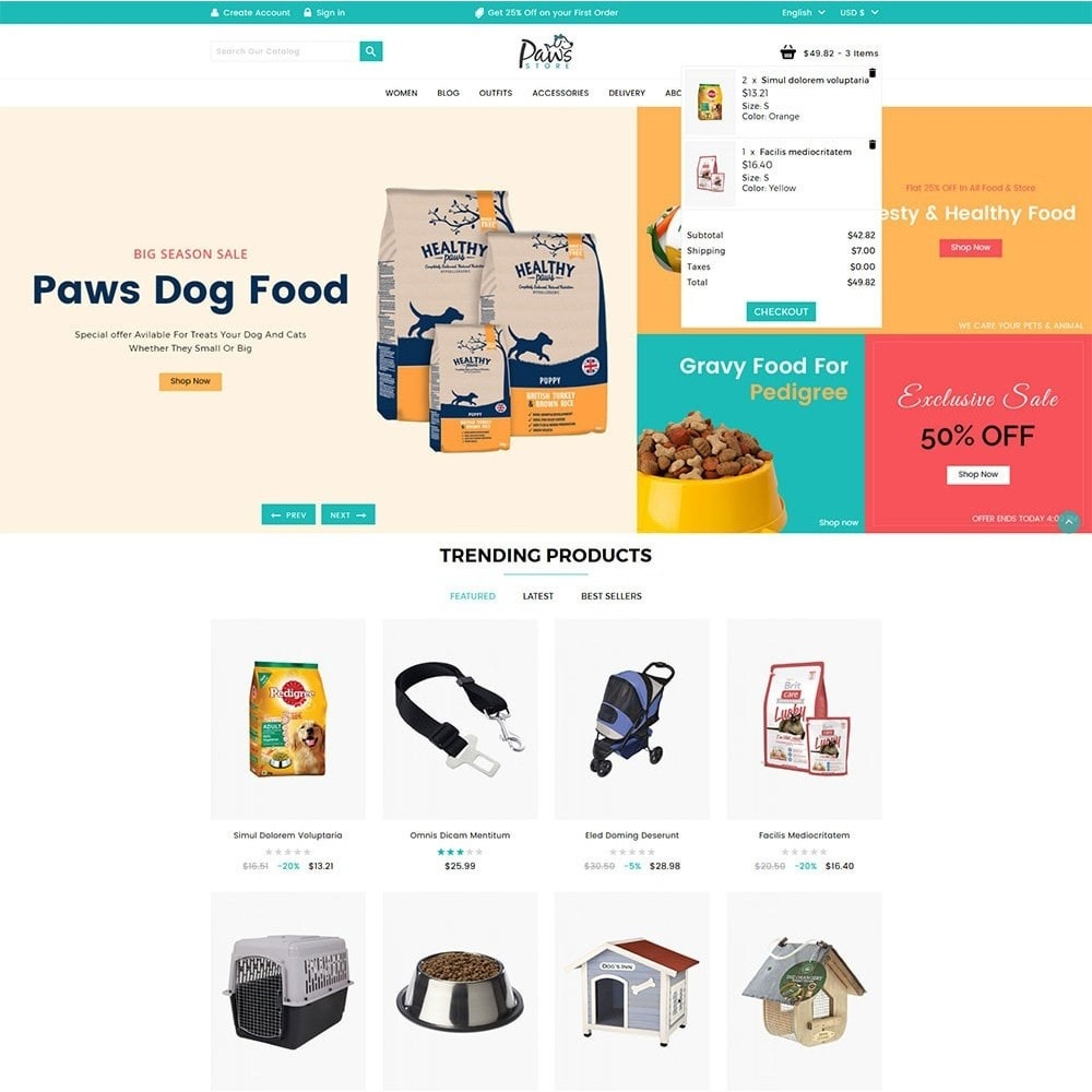 theme - Animals & Pets - Paws Pet Store - 3