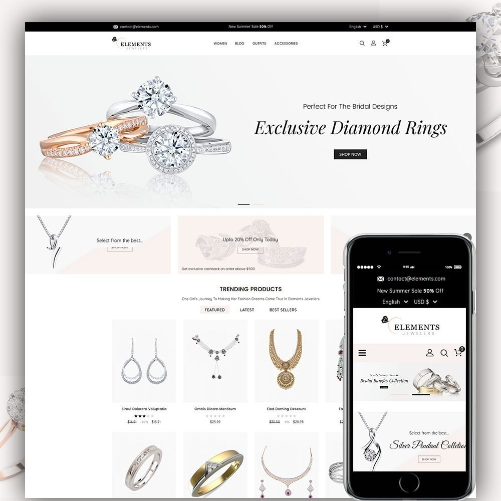 theme - Jewelry & Accessories - Elements Jewellery Store - 1