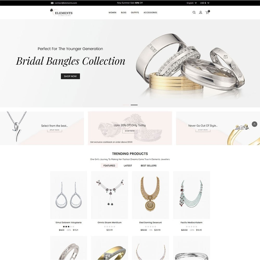 theme - Jewelry & Accessories - Elements Jewellery Store - 2