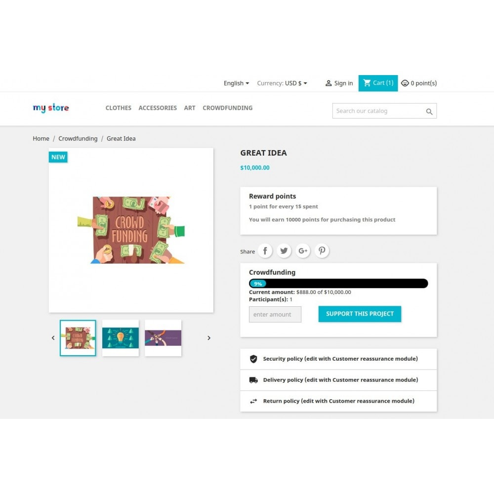 module - Autres moyens de paiement - Pay together / Crowdfunding / Fundraising - 10