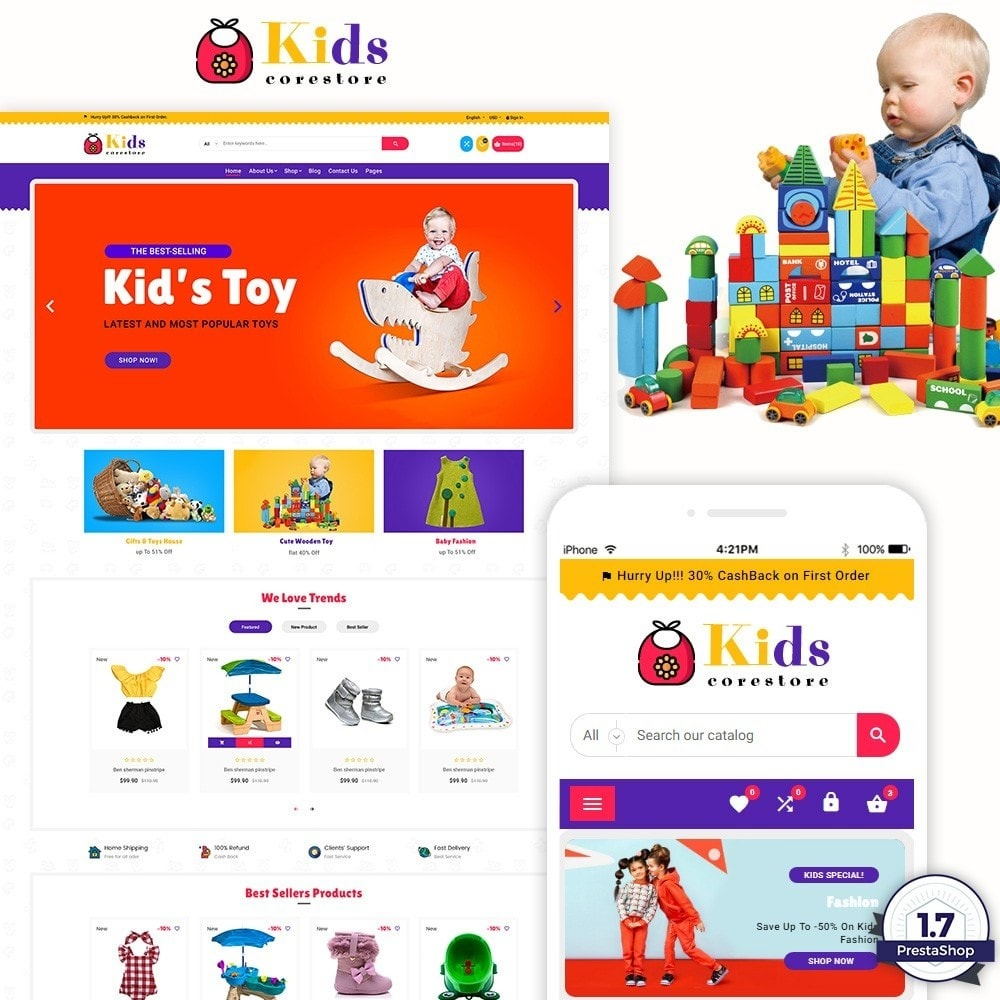 theme - Enfants & Jouets - Kids and Toy Shop - 1