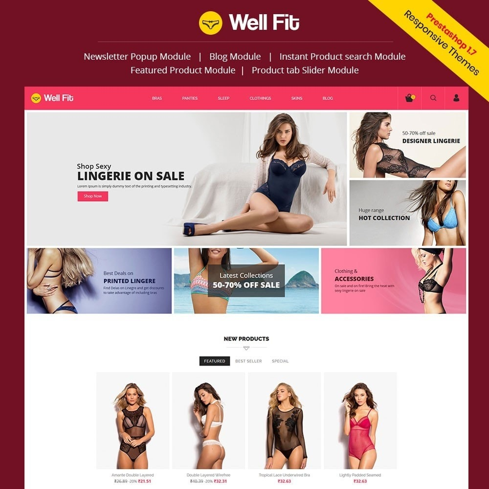 theme - Moda & Calzature - Wellfit - Lingerie  Fashion Store - 1